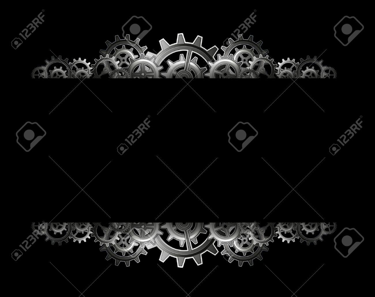 Steampunk gears frame - 24012677