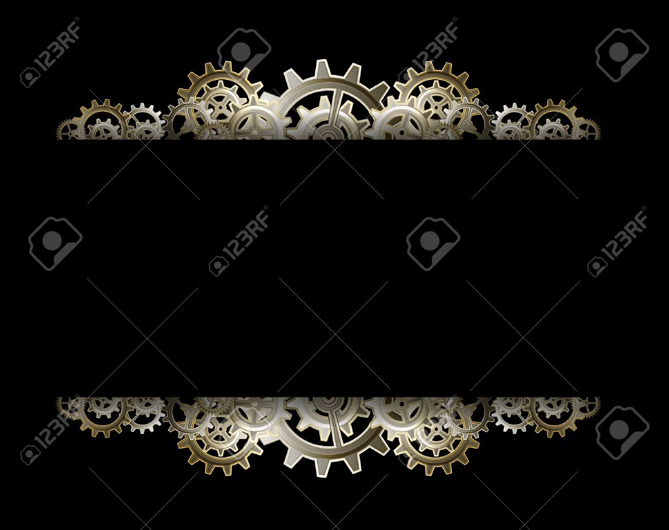 Steampunk gears frame Stock Vector - 24012680