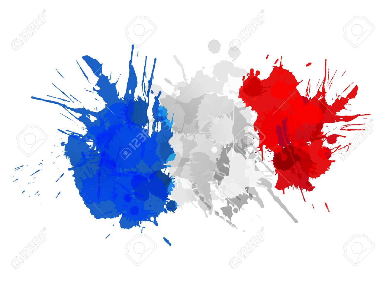 french flag made of colorful splashes royalty free cliparts