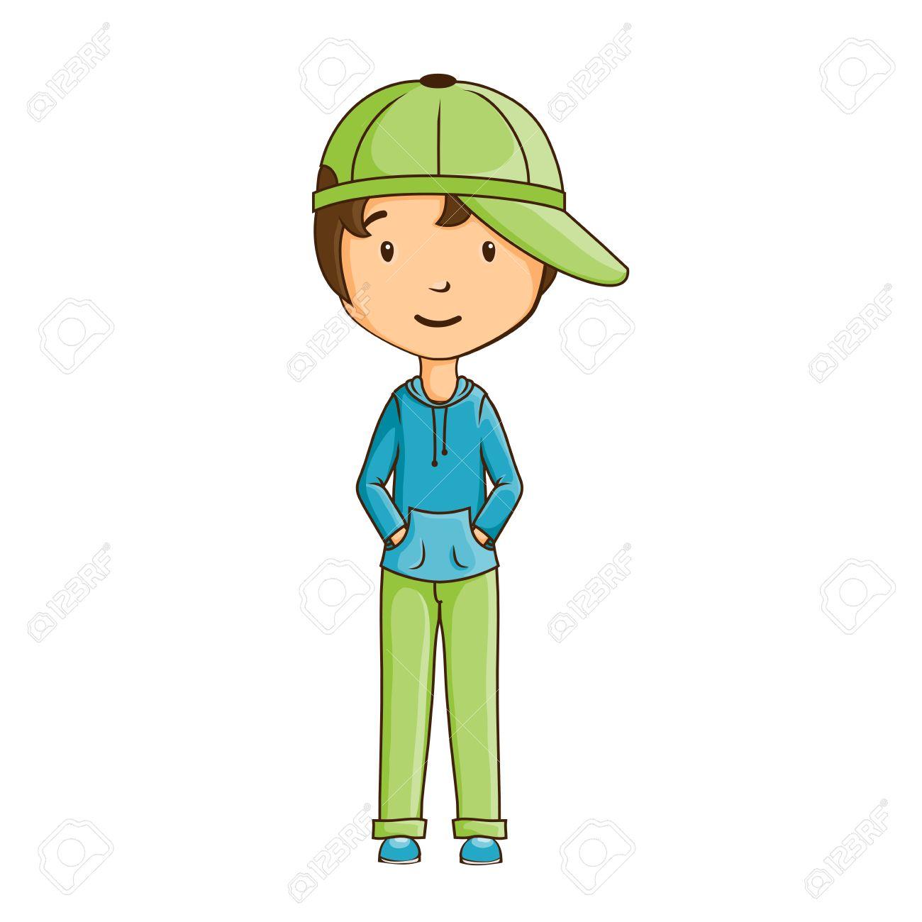 Мальчик в кепке раскраска
