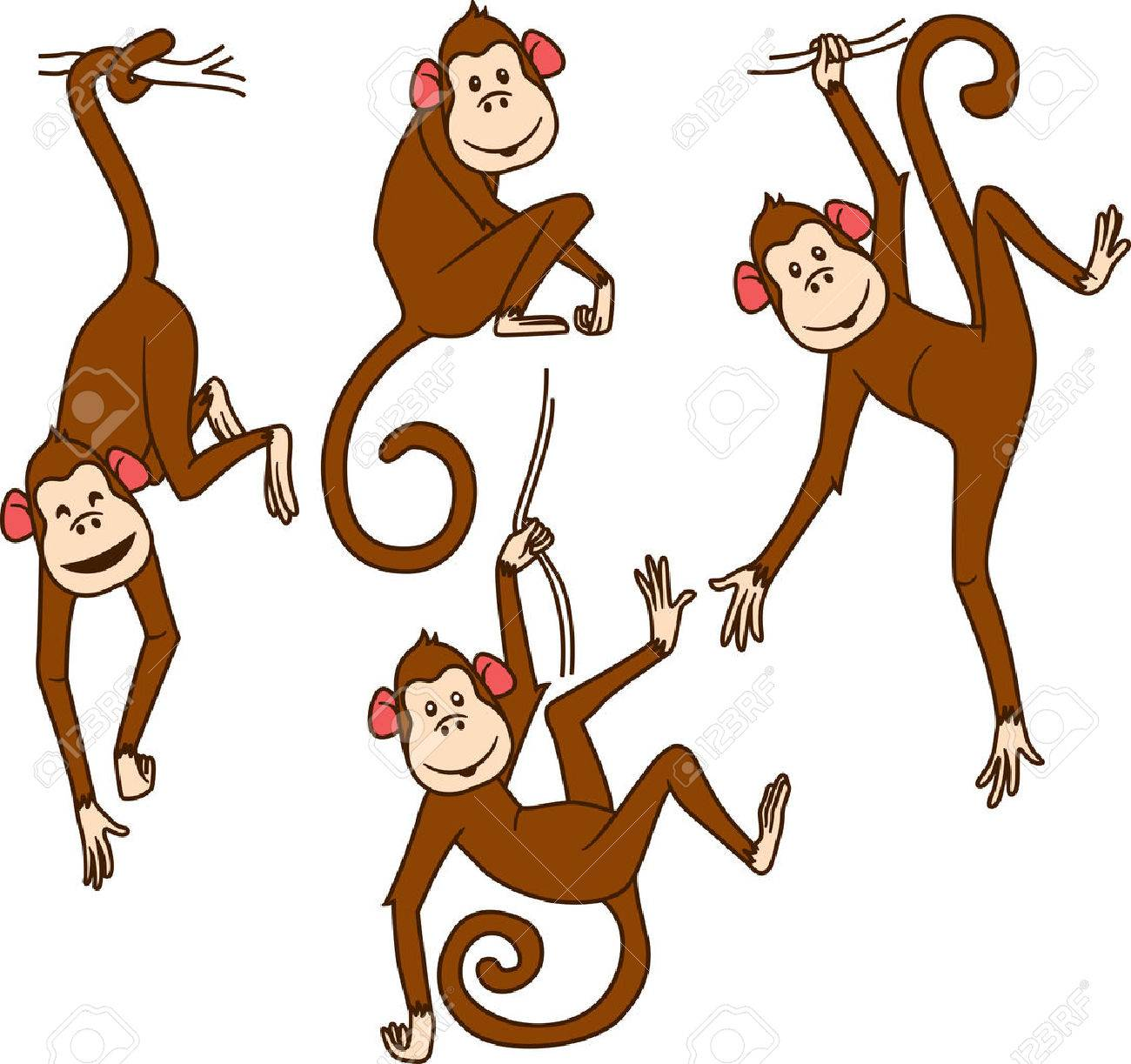 468 different monkeys stock vector illustration and royalty free