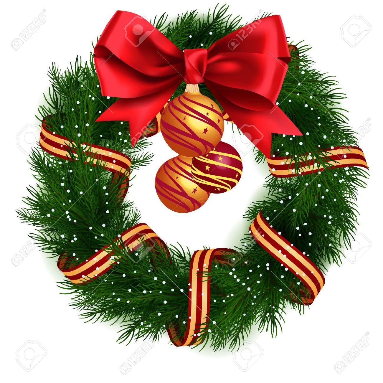 Christmas Wreath.Christmas Wreath Isolated