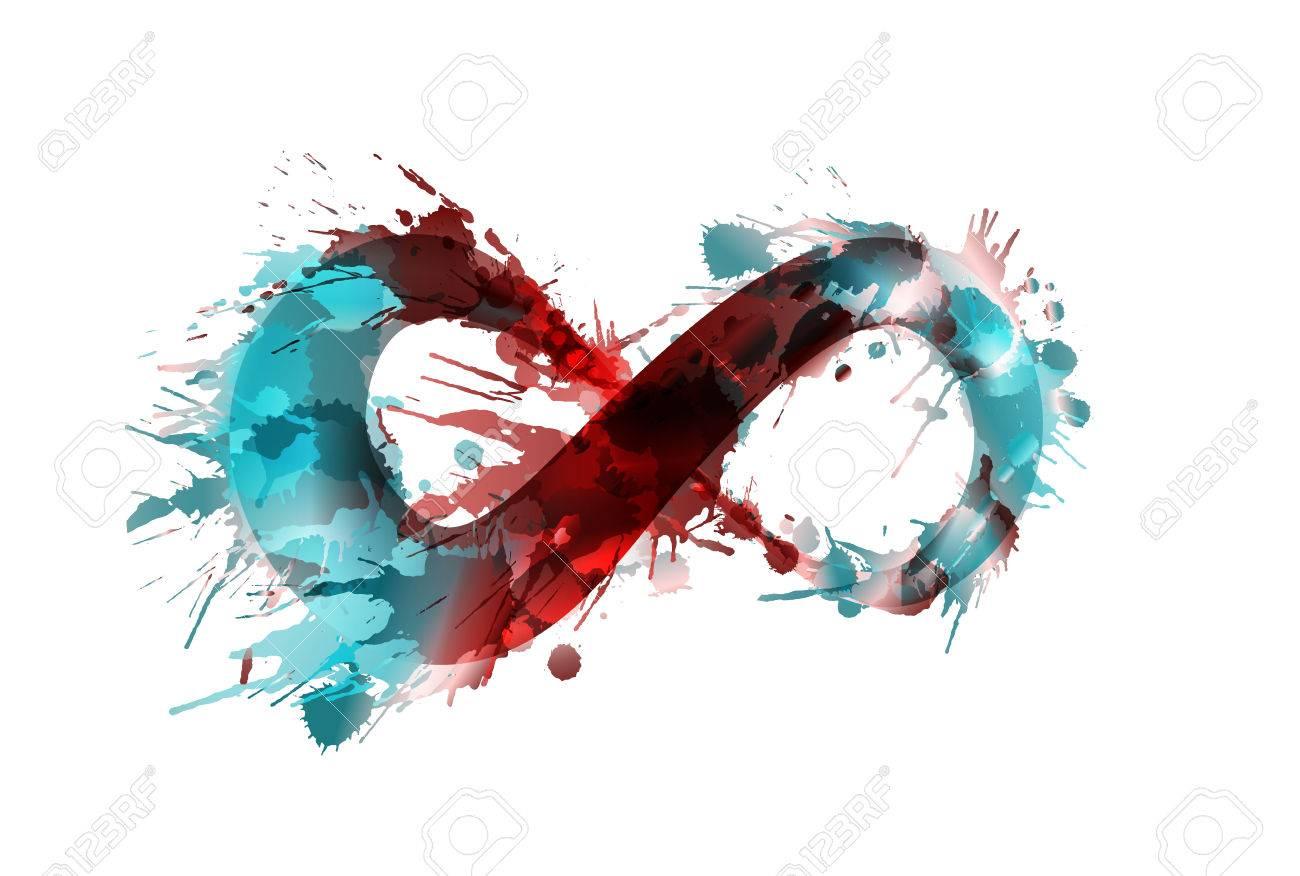 Infinity Symbol Made Of Colorful Grunge Splashes Royalty Free