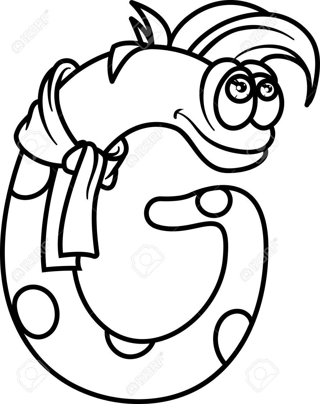 Monster Páginas Para Colorear Alfabeto: Letra G Ilustraciones ...
