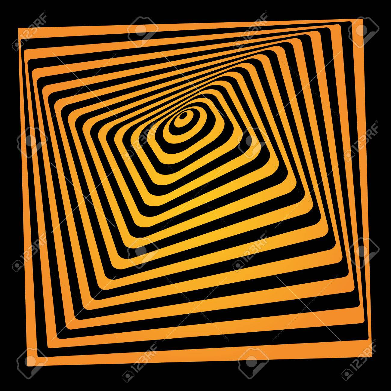 Bright Vector Optical Illusion. Op Art Element For Your Design ...