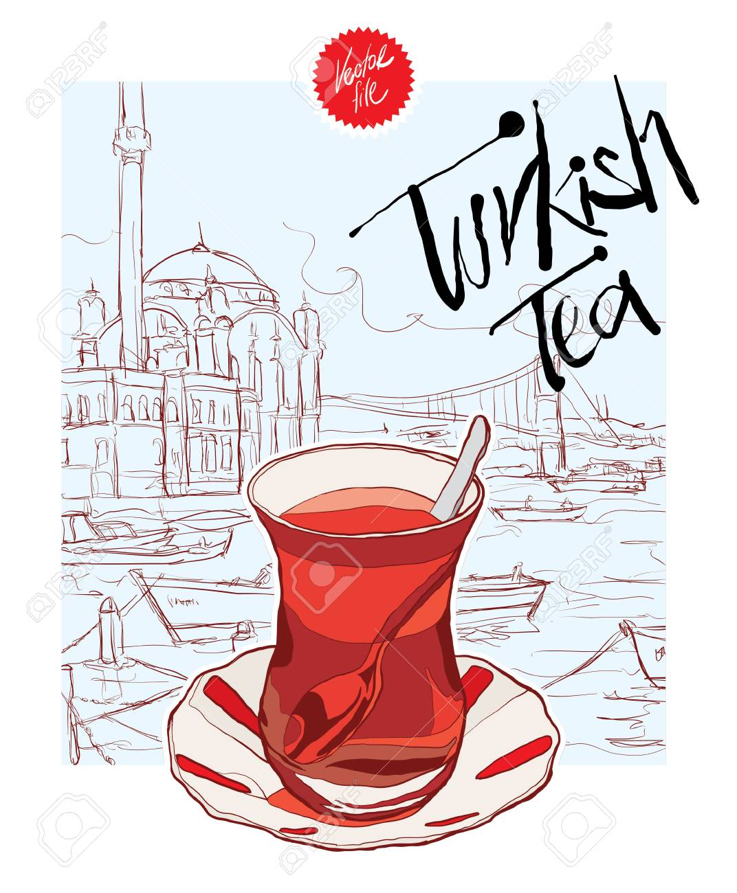 turkish tea vector royalty free cliparts vectors and stock illustration image 90184446 turkish tea vector
