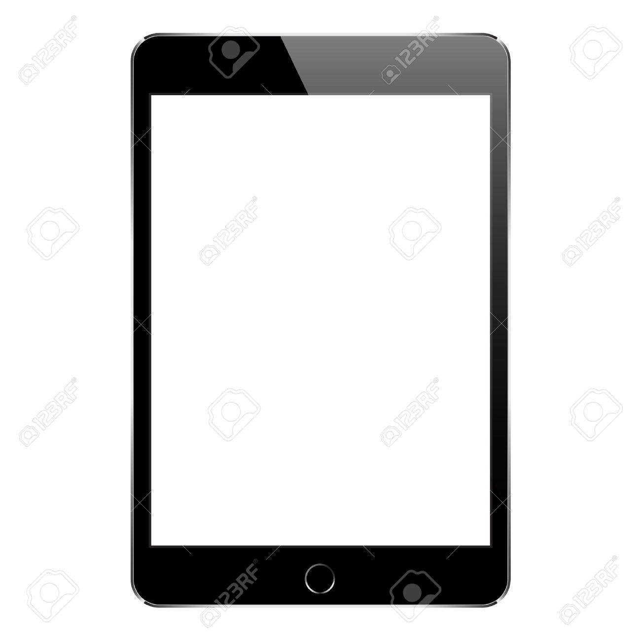 mock up black tablet isolated on white vector design - 54282632
