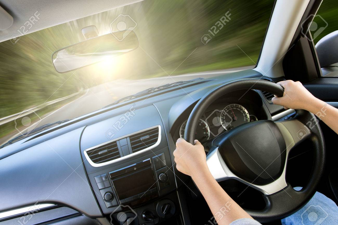 movement speed inside car view - 60873635