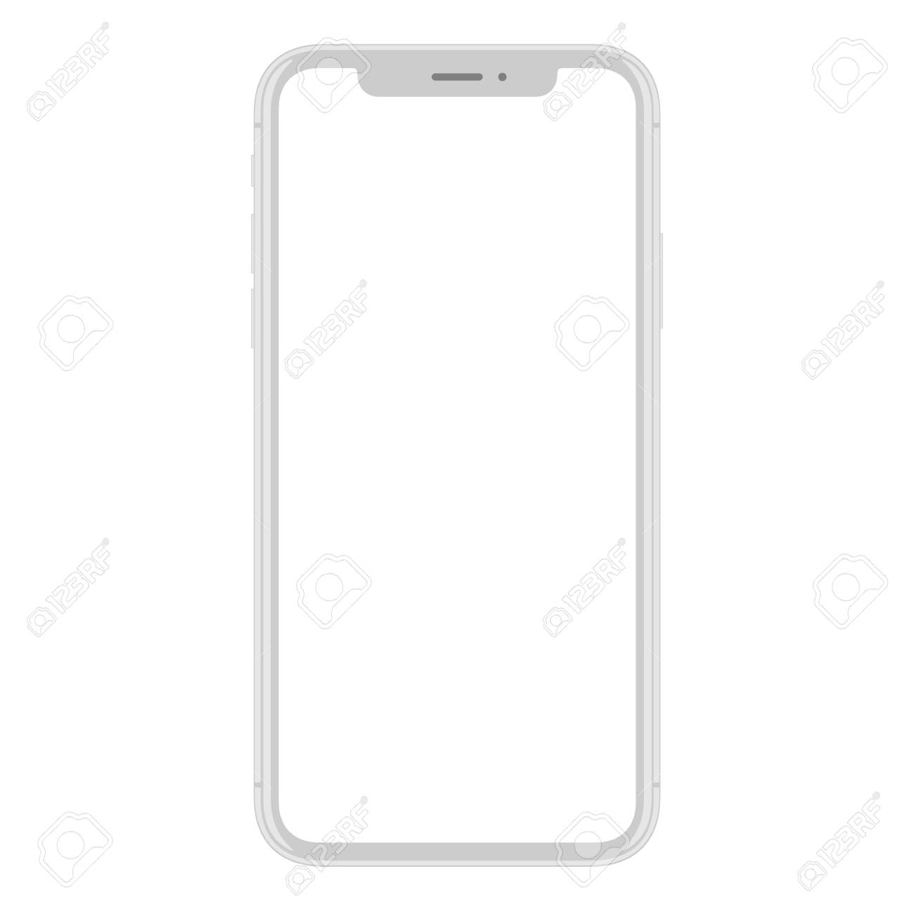 New smart phone mobile vector drawing on white background - 90453155