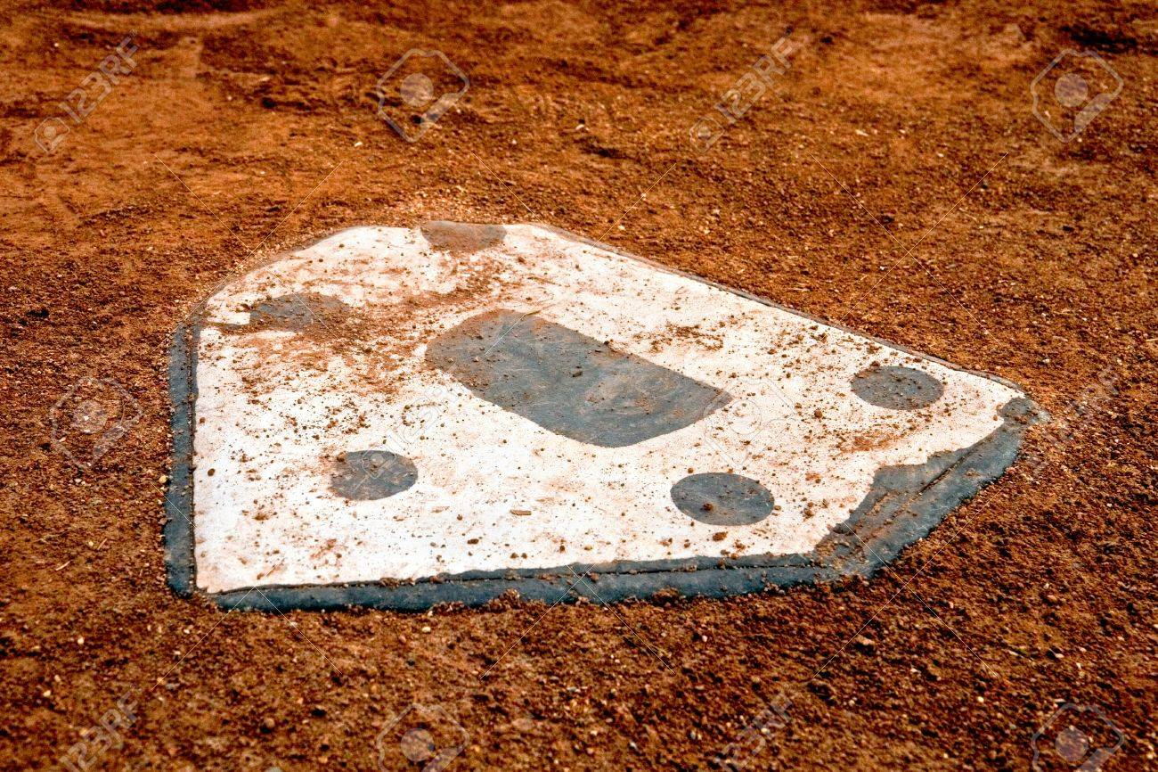 home plate at a little league baseball park Stock Photo - 18877724