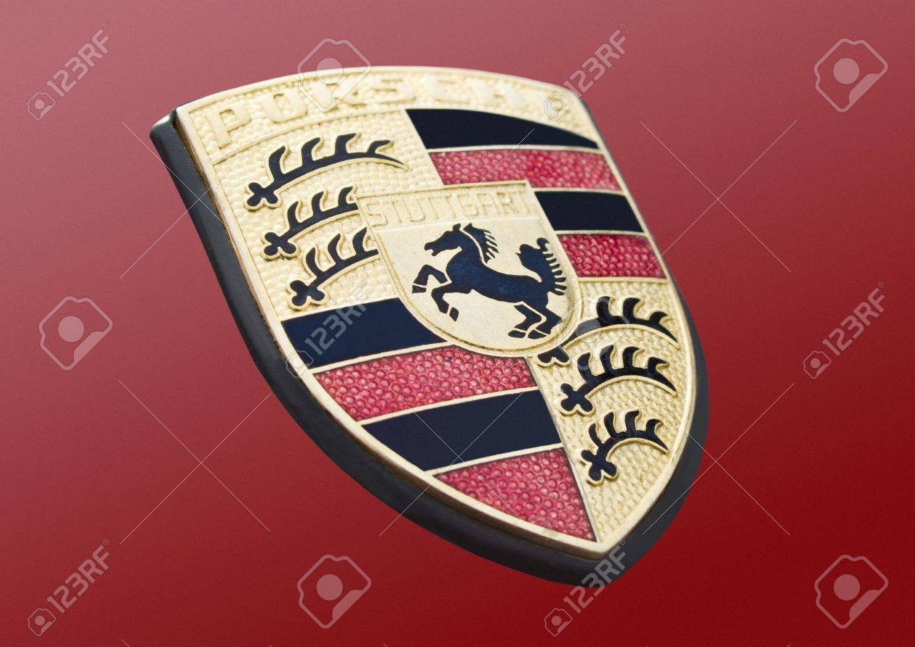 Porsche Car Logo Stock Photo Picture And Royalty Free Image Image