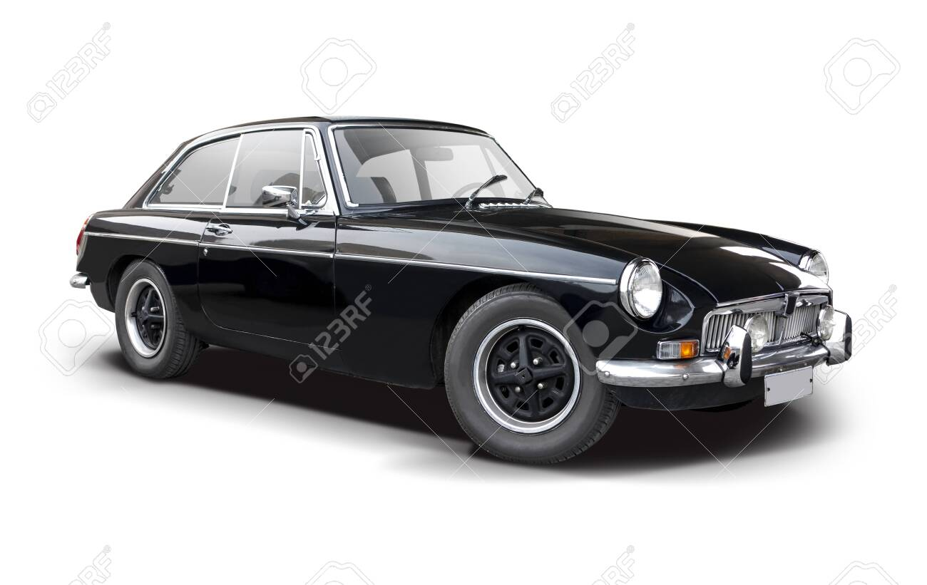 Black British sport classic car isolated on white - 135988640
