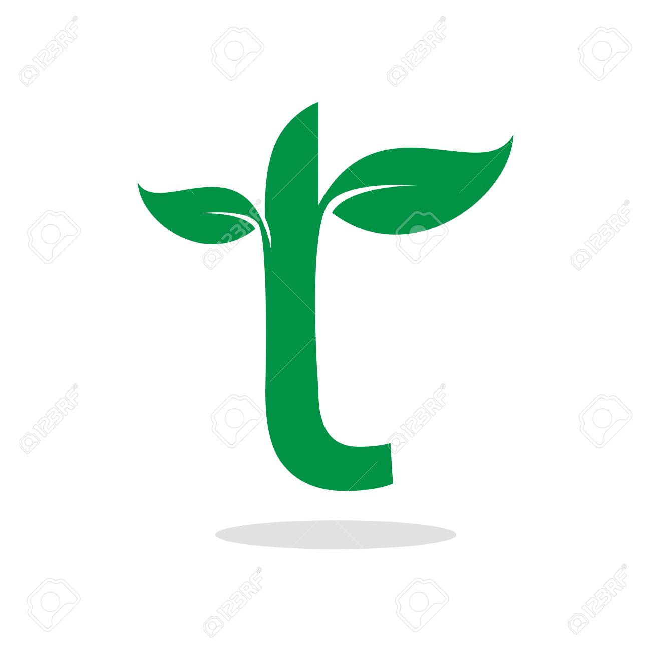 Herbal Symbol For Letter T Royalty Free Cliparts Vectors And Stock