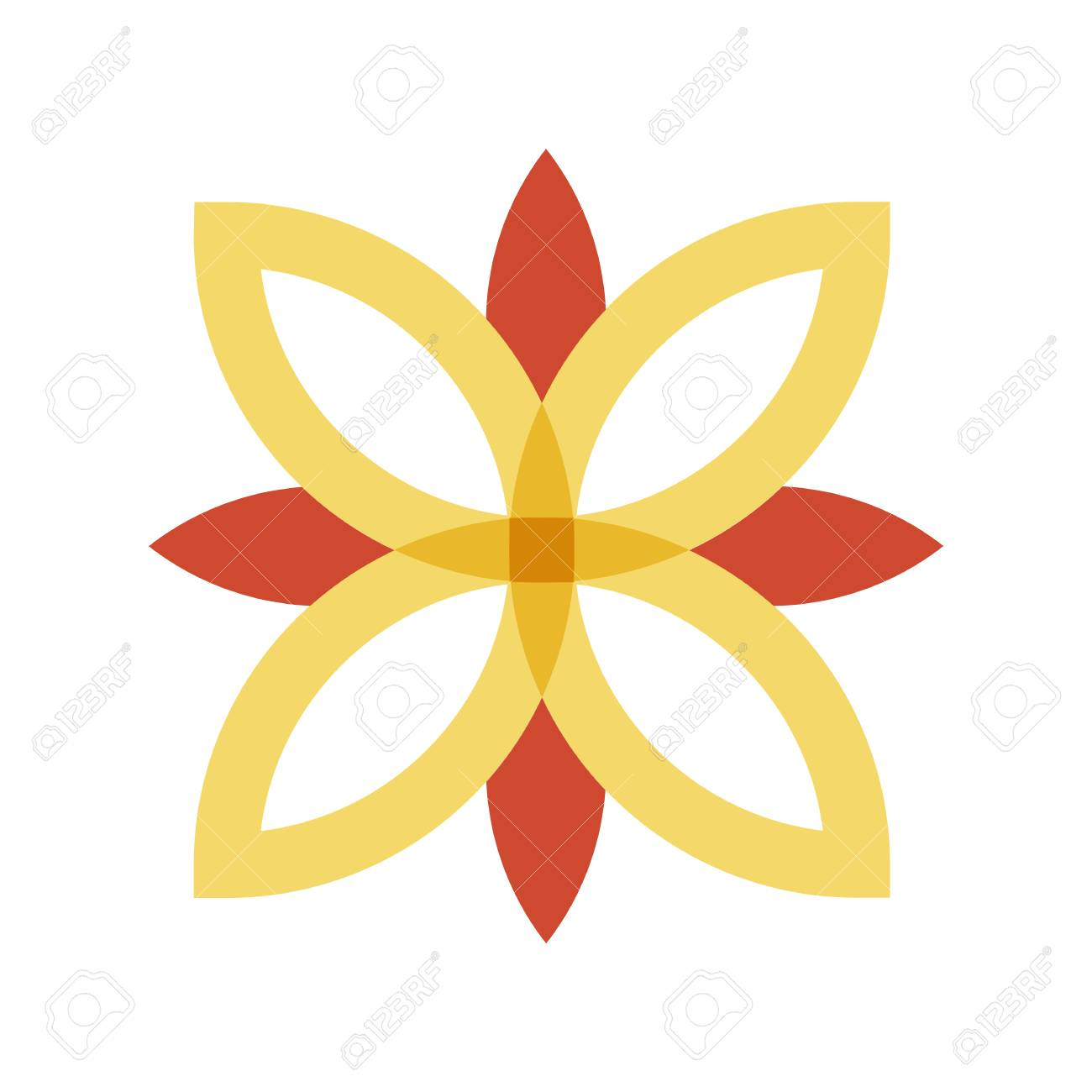 Red And Gold Flower Logo Royalty Free Cliparts Vectors And Stock