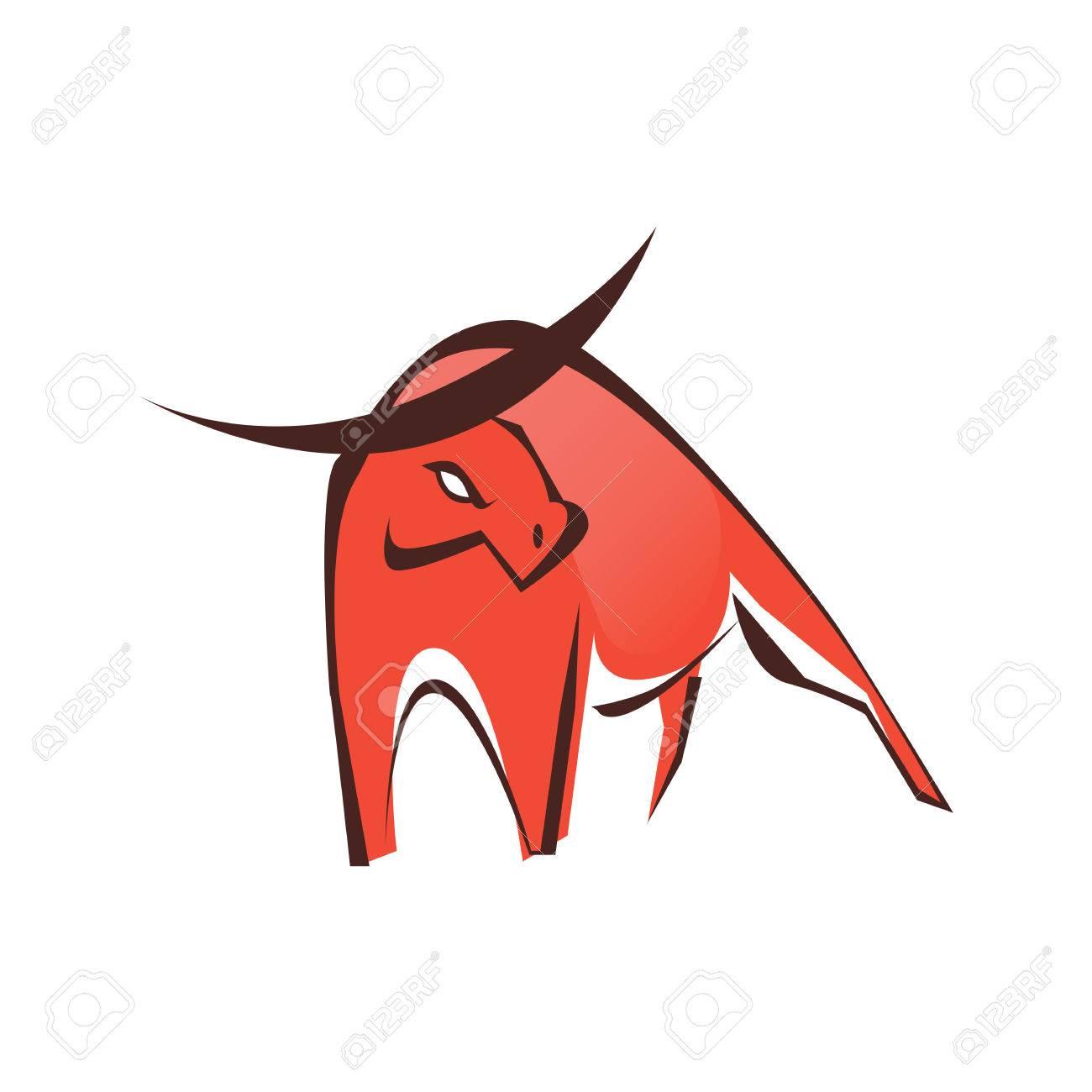 stylish red bull logo symbol royalty free cliparts vectors and