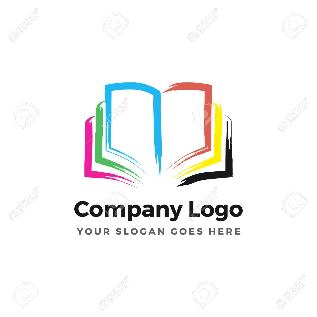 Color Book Logo Royalty Free Cliparts, Vectors, And Stock ...