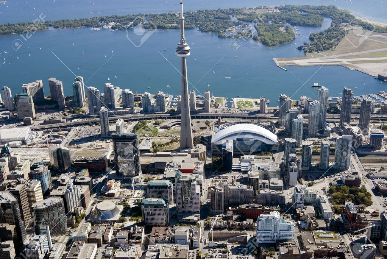 Downtown Toronto, Canada, seen from just above the junction of Richmond and John Streets. Stock Photo - 2349364