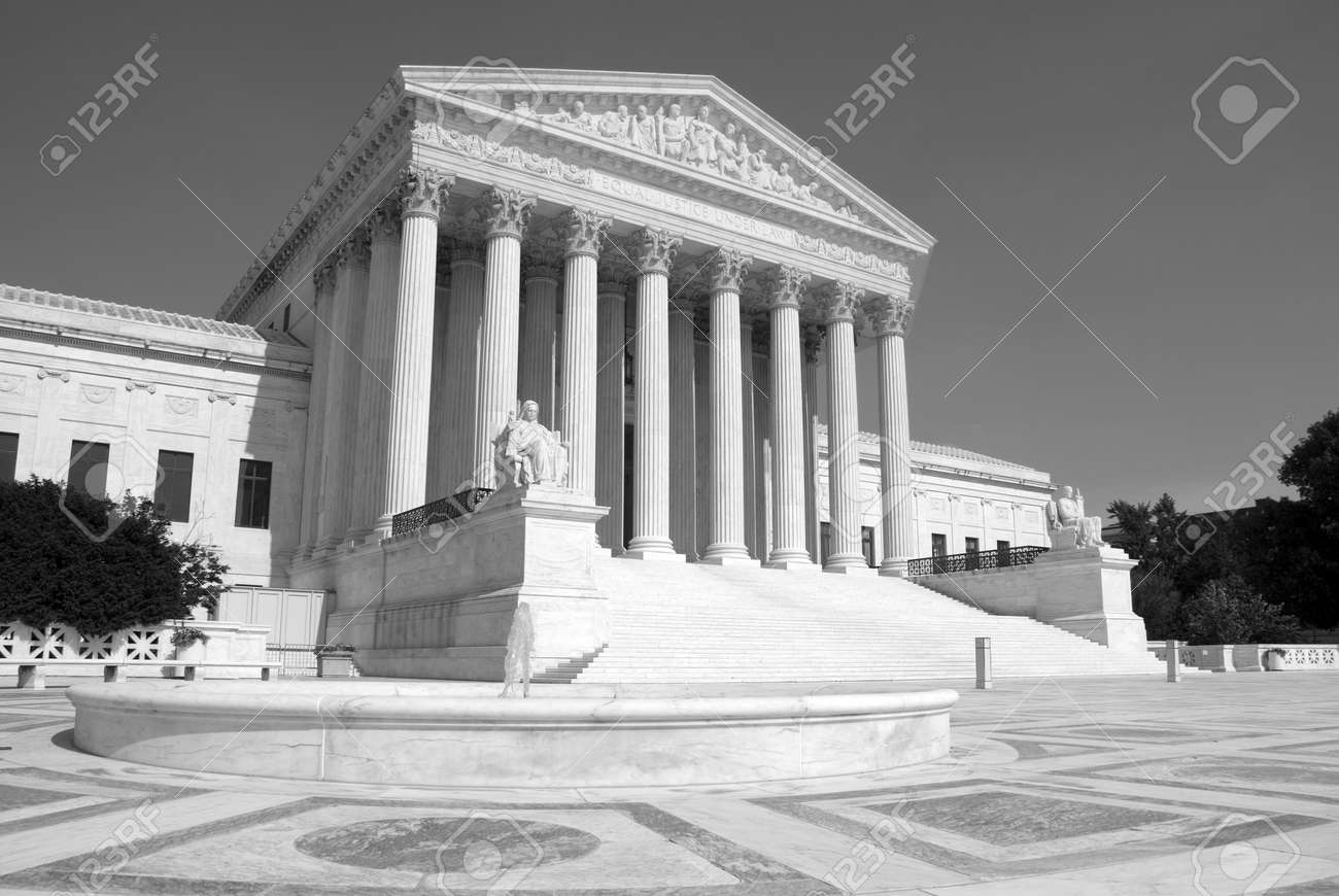 The front of the US Supreme Court in Washington, DC. Stock Photo - 3402071
