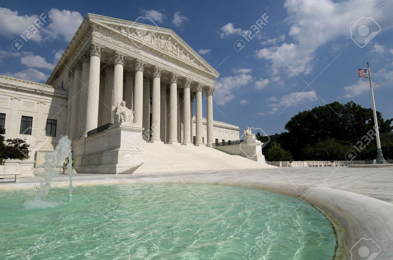 The front of the US Supreme Court in Washington, DC. Stock Photo - 3406171