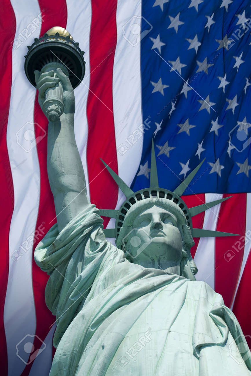 The Statue of Liberty Enlightening the World was a gift of friendship from the people of France to the people of the United States and is a universal symbol of freedom and democracy. Stock Photo - 3559793