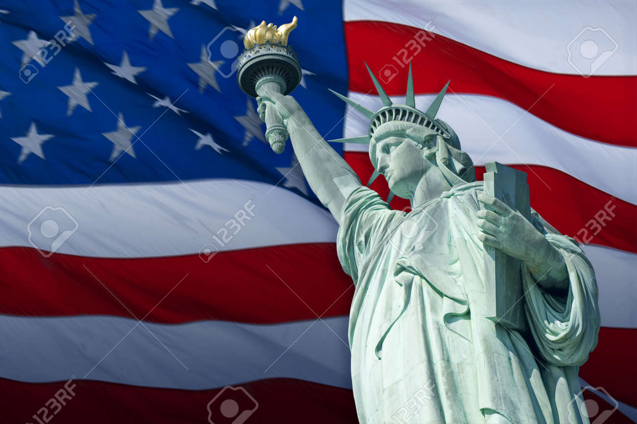 The Statue of Liberty Enlightening the World was a gift of friendship from the people of France to the people of the United States and is a universal symbol of freedom and democracy. Stock Photo - 5602220