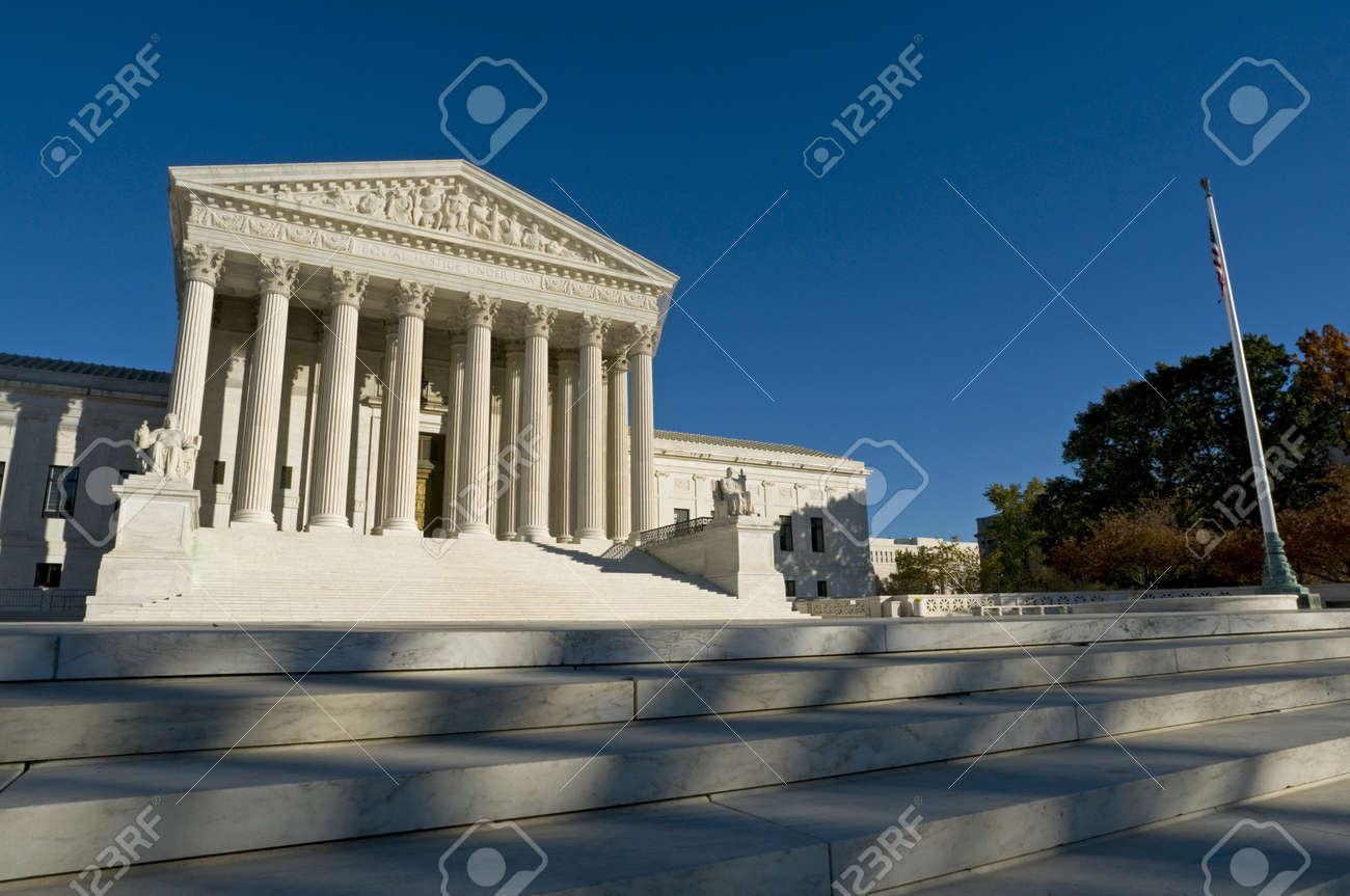 The front of the US Supreme Court in Washington, DC. Stock Photo - 8290200