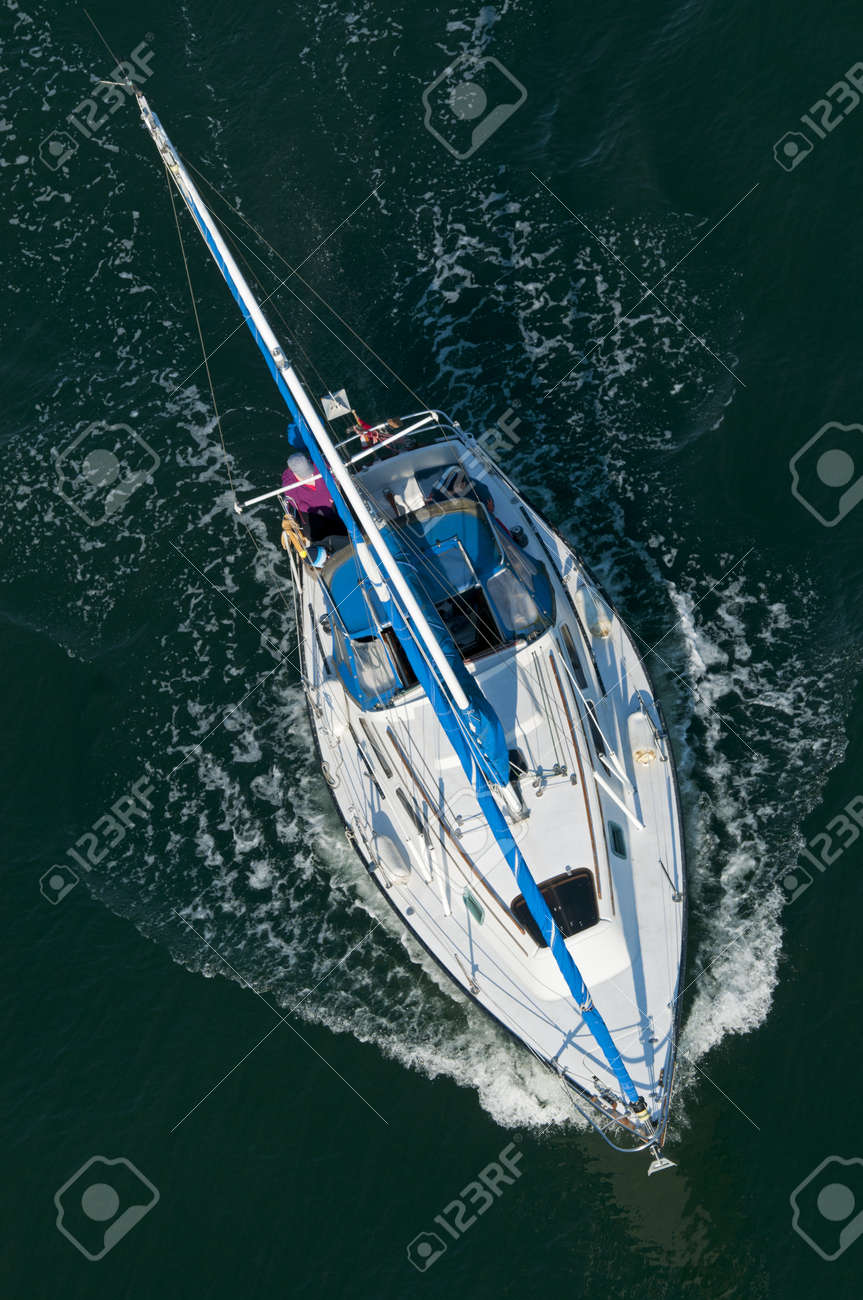 A sailing boat shot from above. Stock Photo - 12394302