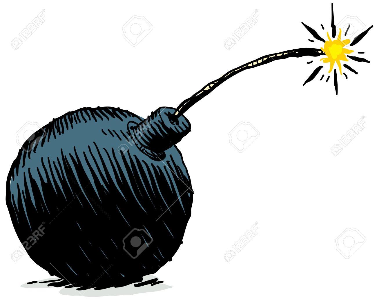 A Cartoon Bomb. Stock Photo, P...