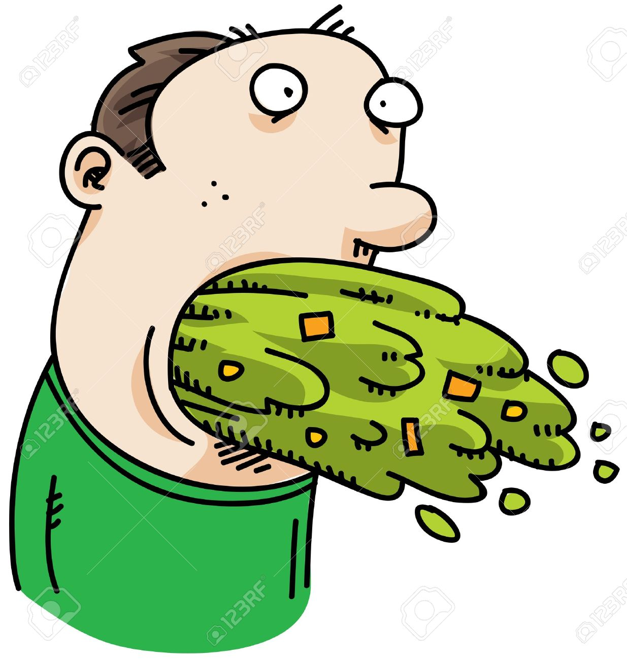 11431460-A-cartoon-man-with-a-mouth-full-of-vomit--Stock-Photo-cartoon-sick-person