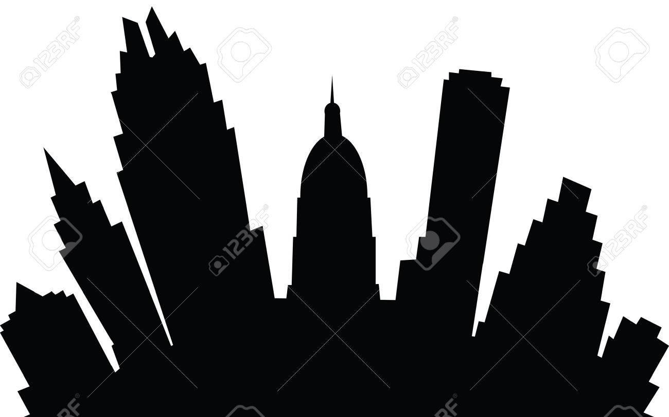 a cartoon skyline silhouette of the city of austin texas usa stock vector