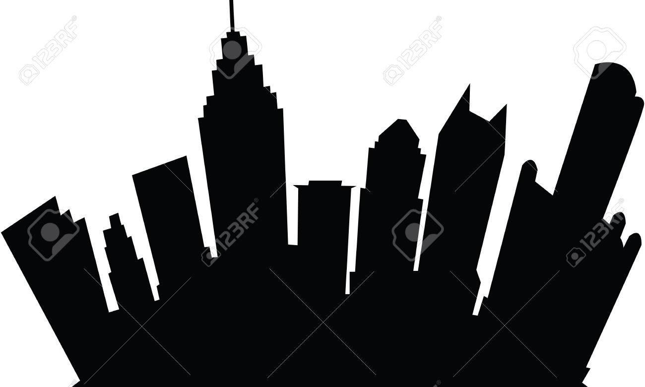 cartoon skyline silhouette of the city of detroit michigan rh 123rf com detroit skyline outline vector