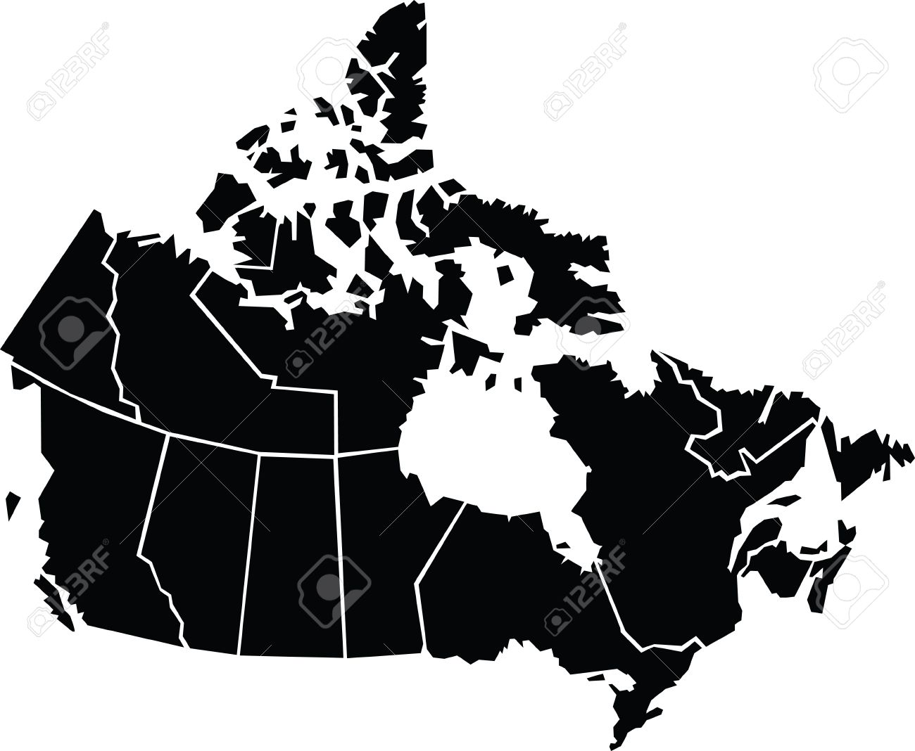 Map Of Canada Cartoon Chunky,cartoon Map Of Canada. Royalty Free Cliparts, Vectors, And