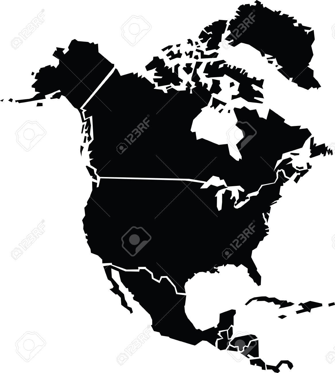 Chunky cartoon map of north america royalty free cliparts vectors chunky cartoon map of north america stock vector 29634421 gumiabroncs Choice Image