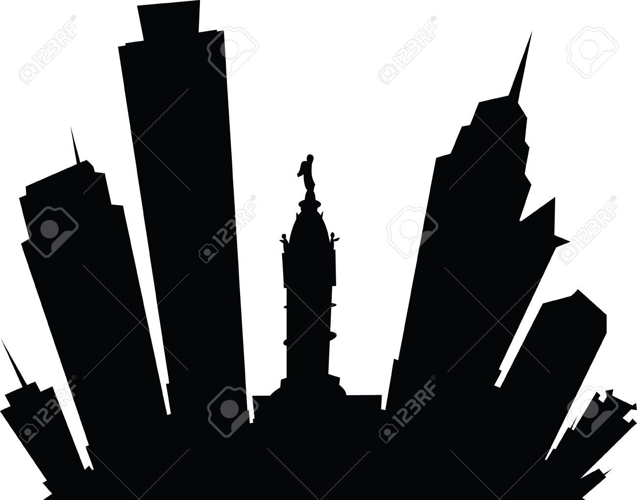 cartoon skyline silhouette of the city of philadelphia pennsylvania rh 123rf com philadelphia skyline silhouette vector philadelphia skyline silhouette vector