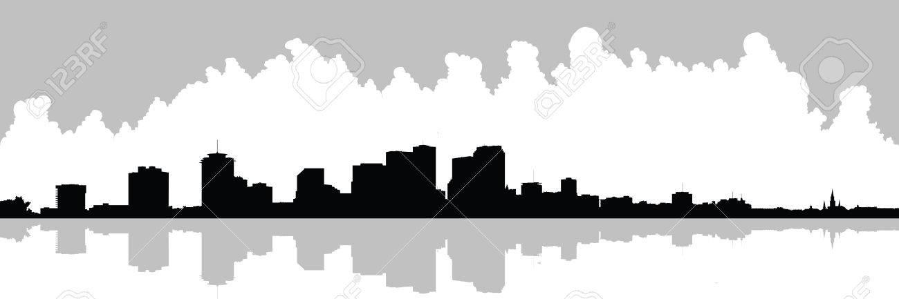 skyline silhouette of the city of new orleans louisiana usa rh 123rf com La City Skyline Shreveport LA Skyline