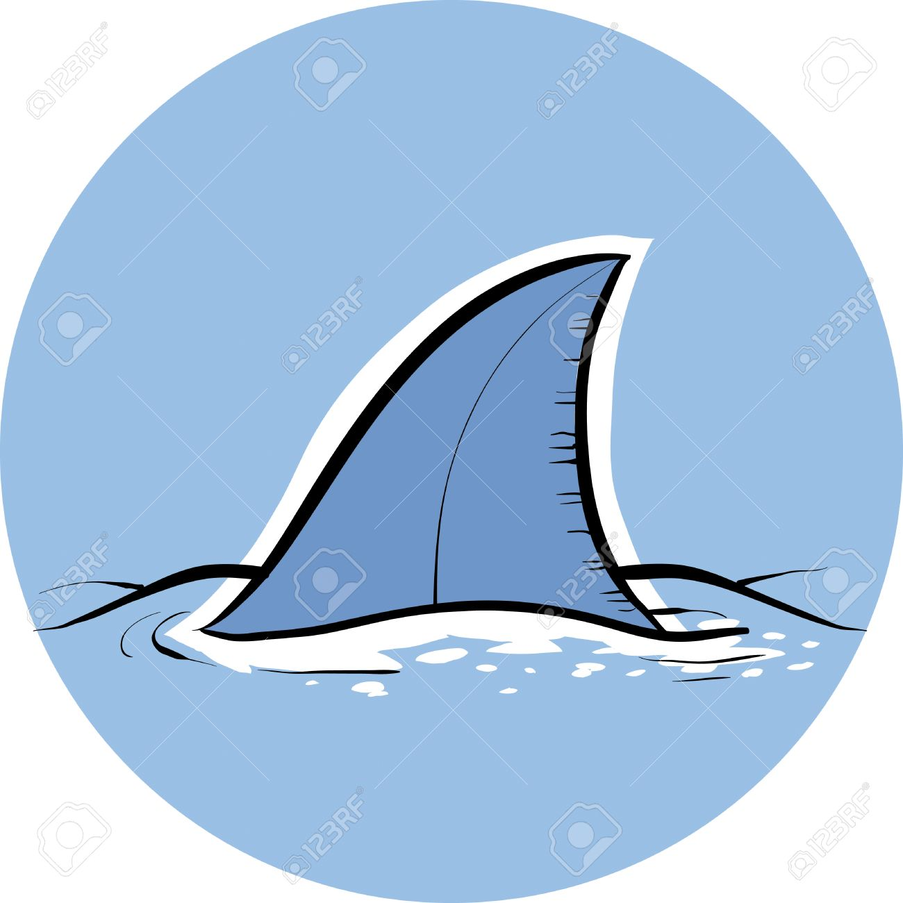 a cartoon dorsal fin of a shark royalty free cliparts vectors