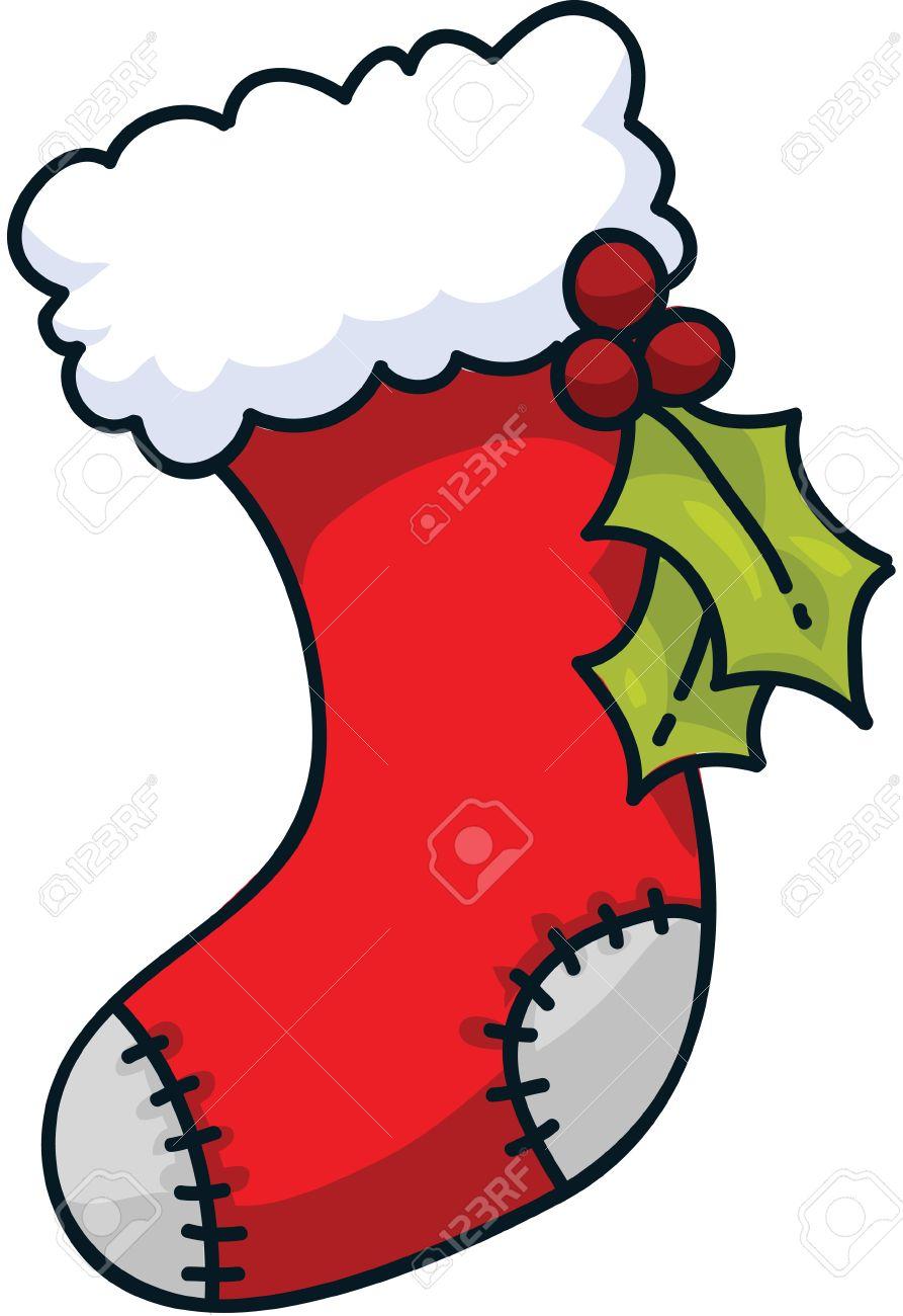 Christmas Stockings Cartoon.A Cartoon Christmas Stocking
