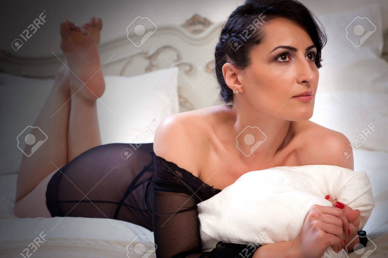 Mature Woman Portrait In Black Lingerie Stock Photo Picture And Royalty Free Image Image 13307029