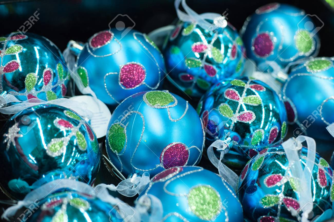 Blue Christmas Decorations For Sale  from previews.123rf.com