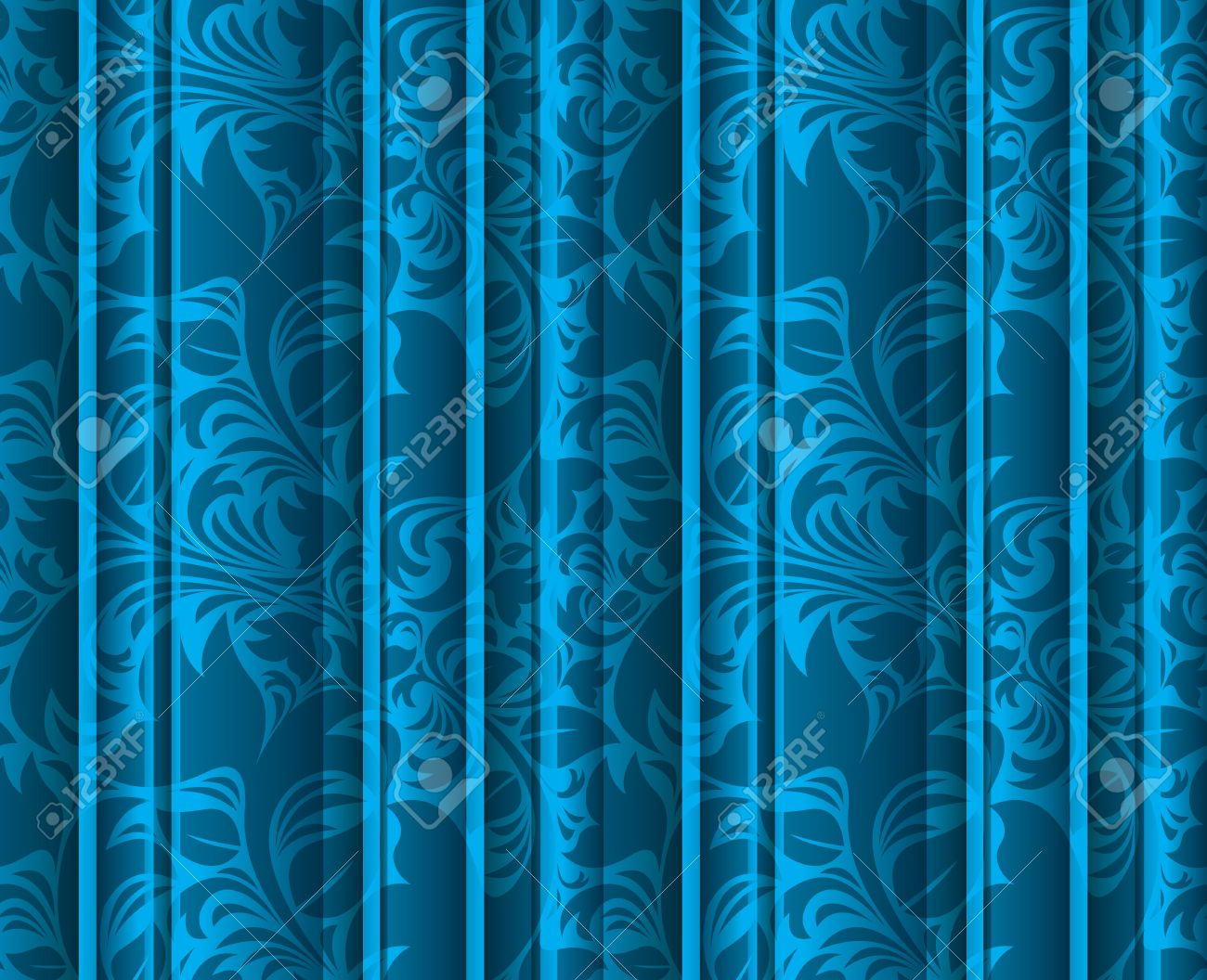 Seamless Floral Texture On The Blue Volumetric Curtains Background ... for Blue Curtains Texture  545xkb