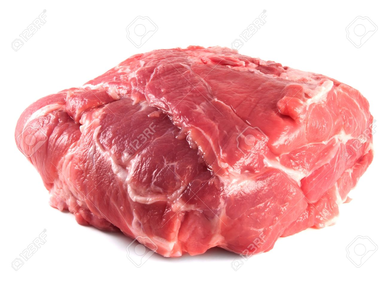 Pork neck carbonade. Fresh raw pork meat. Isolated on white background. Stock Photo - 21906717