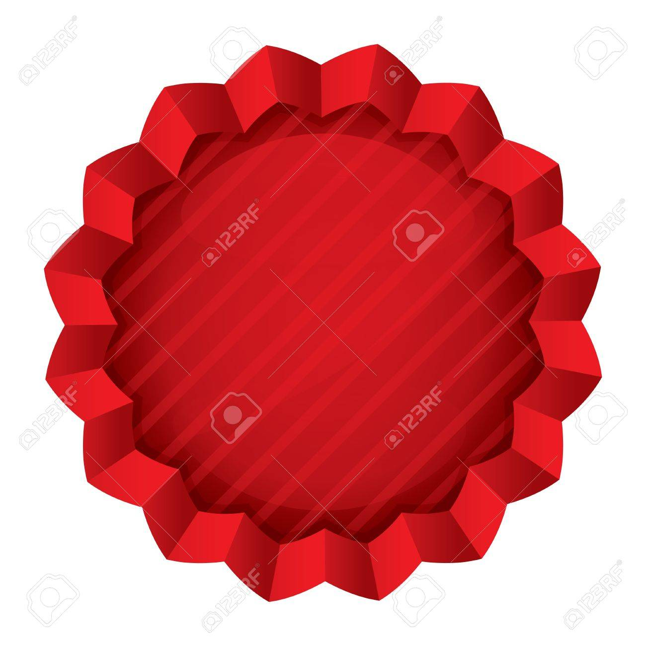 Price Tag Template. Vector Red Round Star Sticker. Icon For ...