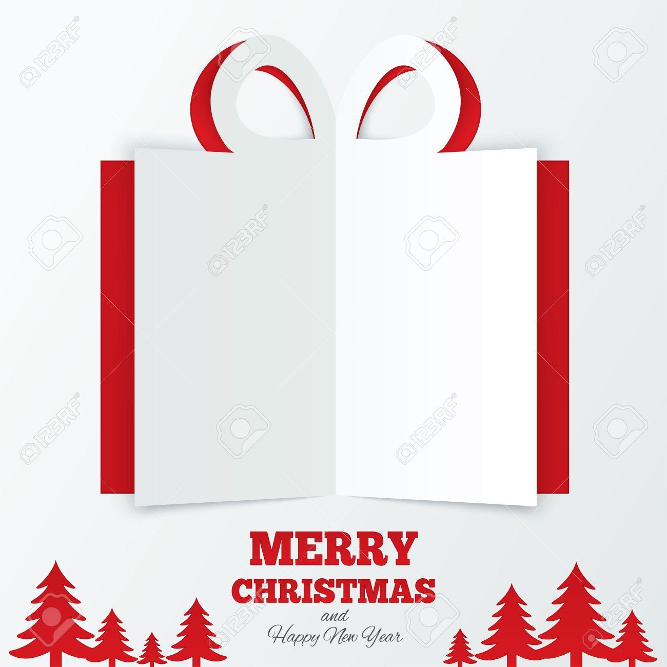 Christmas Tree Cutout.Christmas Box Cut The Paper Christmas Tree Cutout Paper Gift