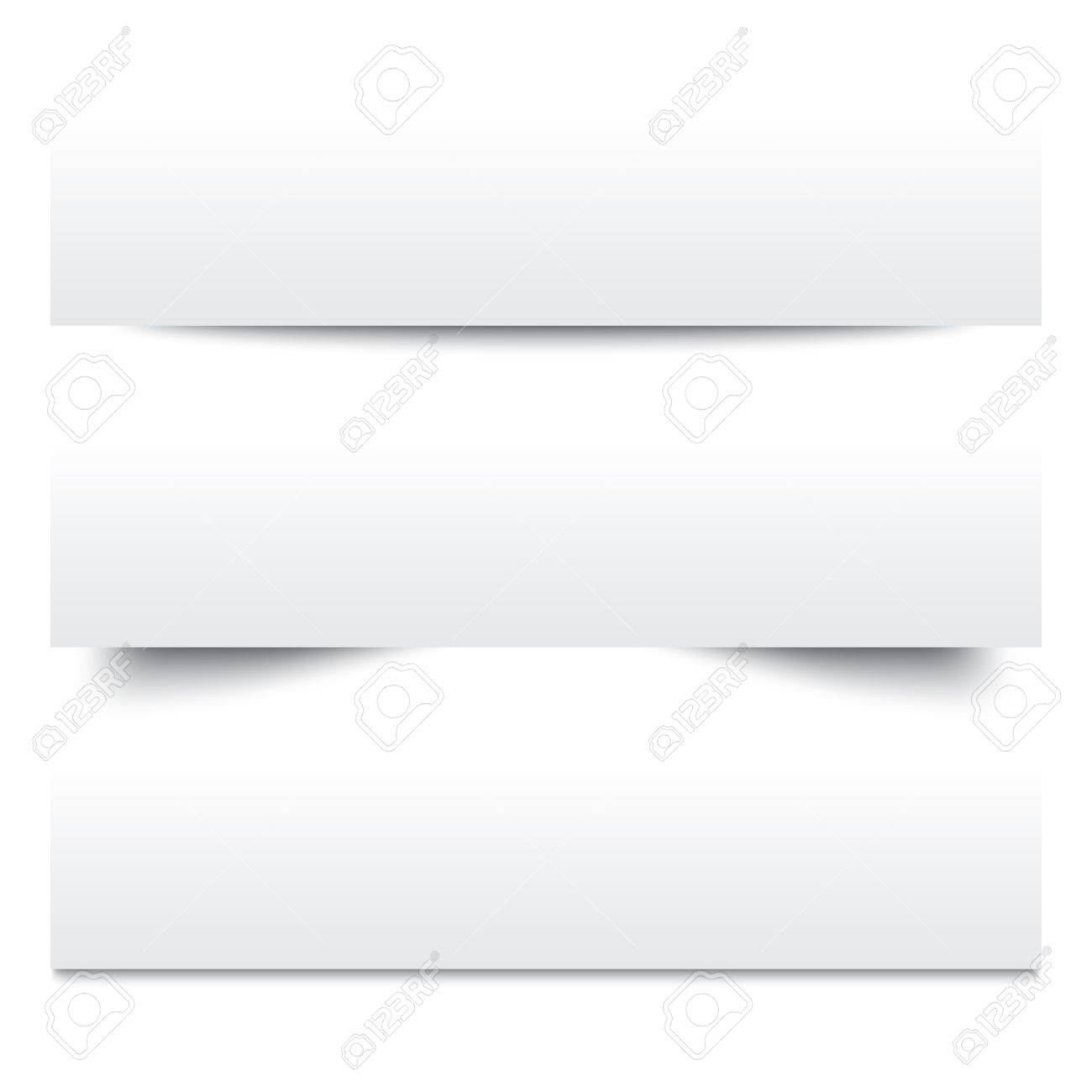 Paper Shadows Collection Of White Note Papers Paper Separators – Collection Note