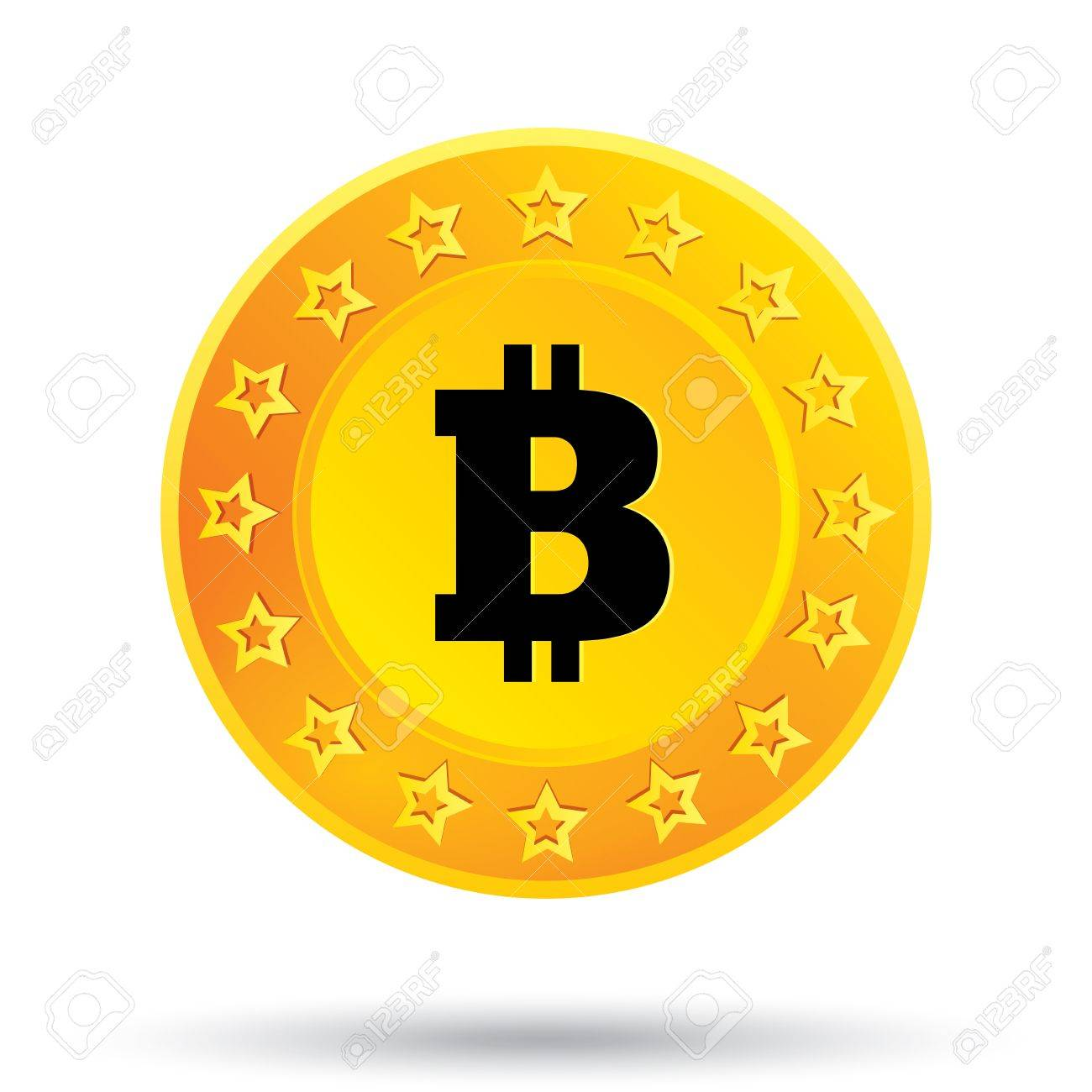 Bitcoin Icon Innovative Cryptography Currency Open Source P2P Peer To