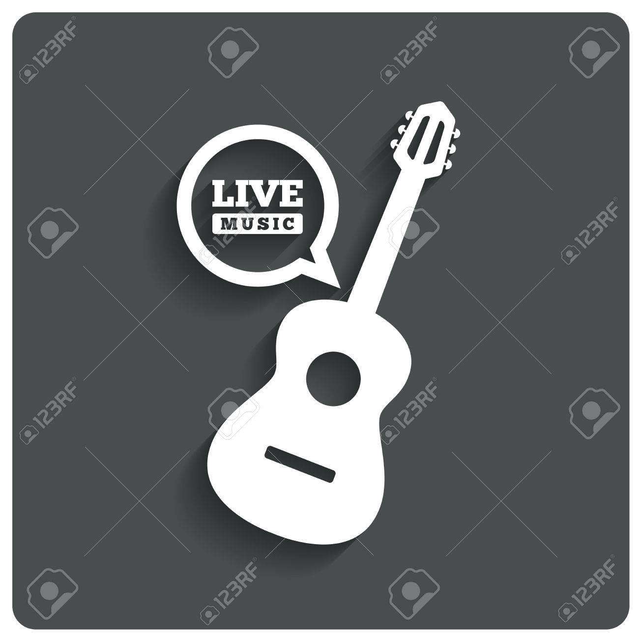 Acoustic guitar icon  Live music symbol  Karaoke symbol  Restaurant