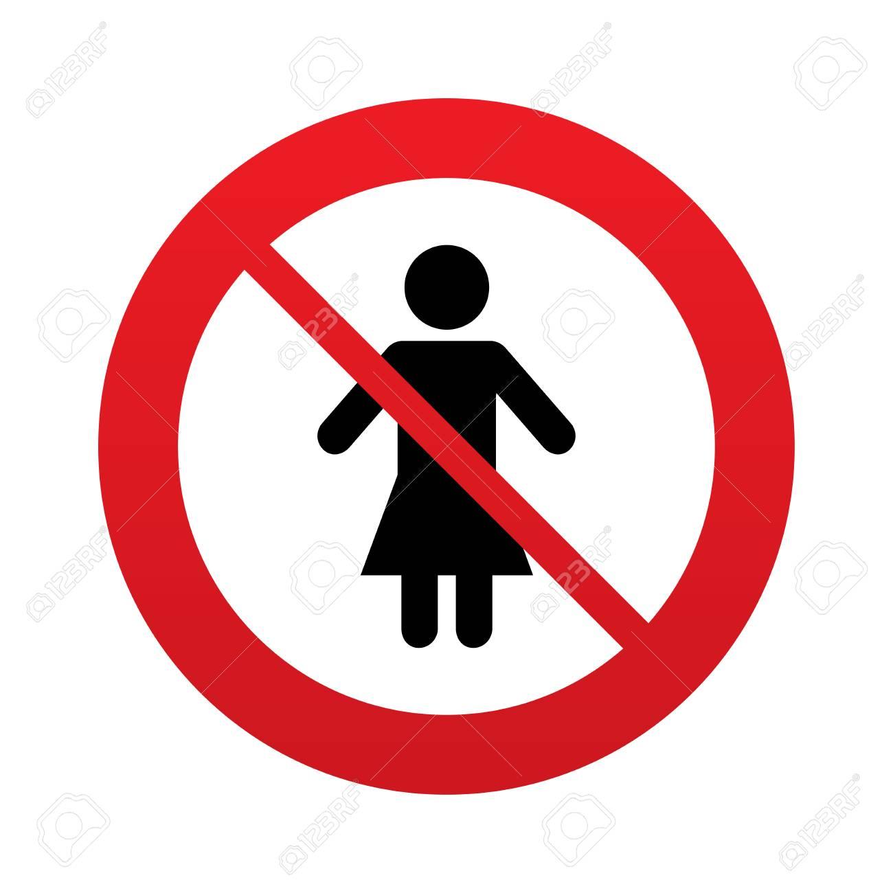 Femme Signe Icône Femme Symbole Humain Femmes Toilette Panneau D