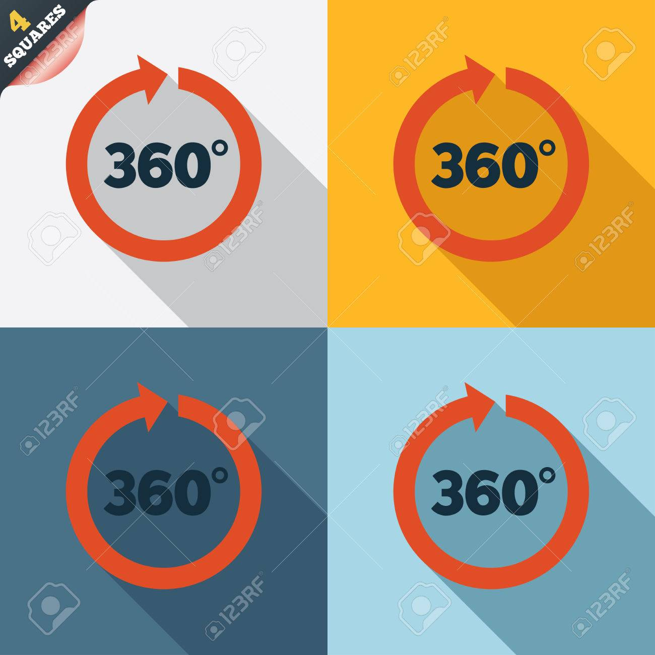360 Degree Angle Angle 360 Degrees Sign Icon
