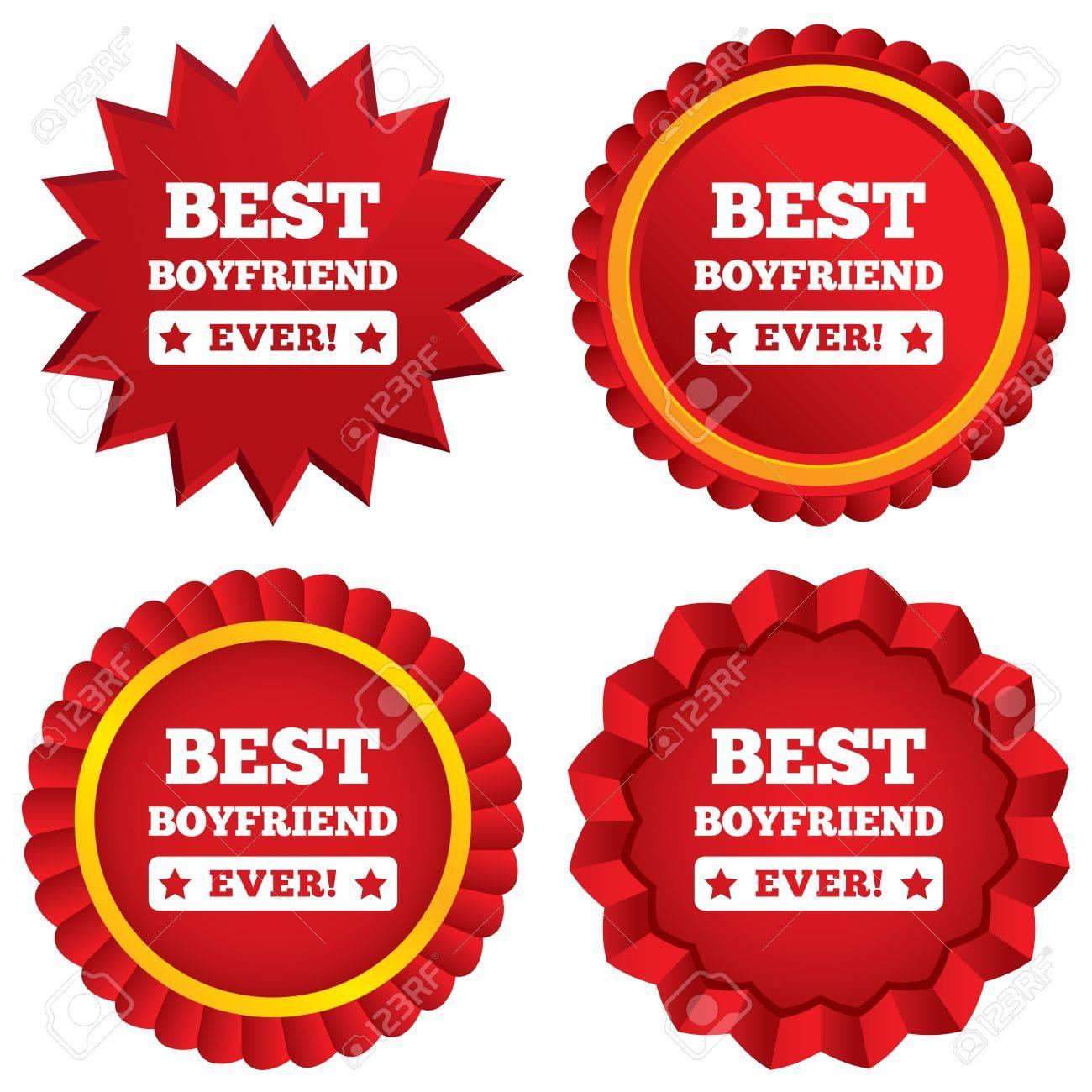 Best Boyfriend Ever Sign Icon. Award Symbol. Exclamation Mark ...