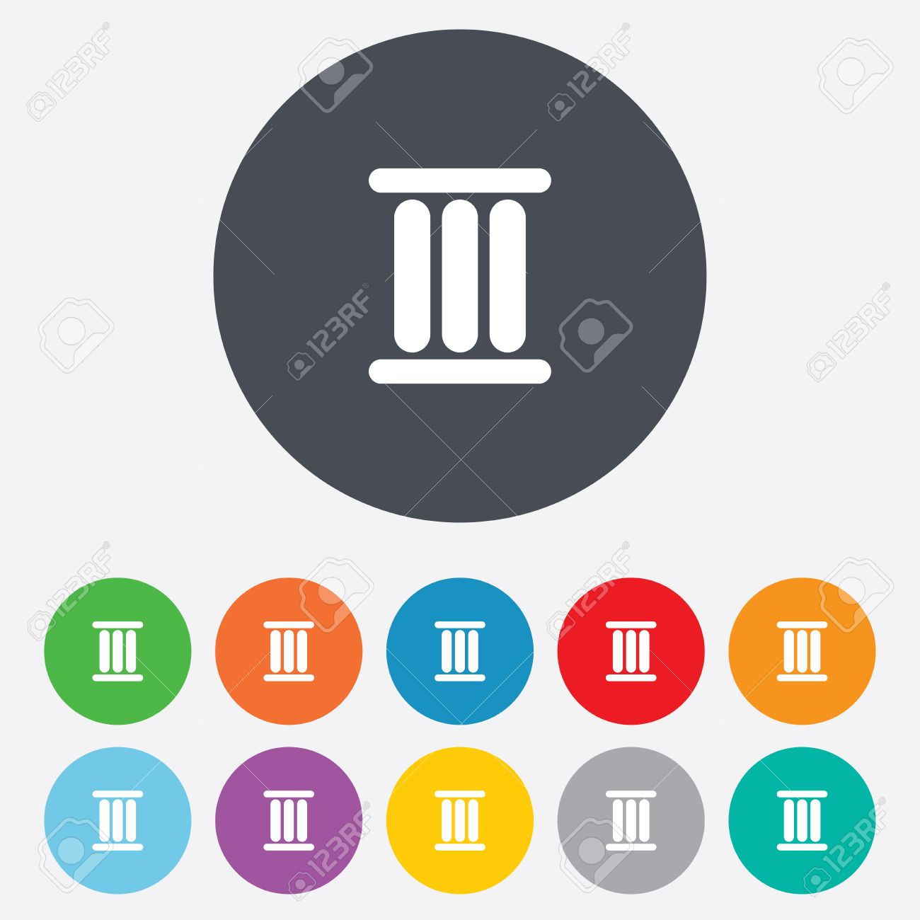 Worksheet Three In Roman Numeral roman numeral three sign icon number symbol round colourful 11 buttons